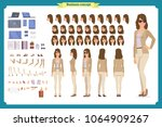 young woman  casual clothes.... | Shutterstock .eps vector #1064909267