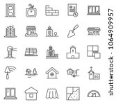 thin line icon set   mortgage... | Shutterstock .eps vector #1064909957