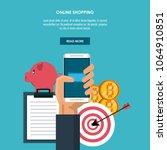 online shopping infographic | Shutterstock .eps vector #1064910851