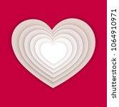 paper art hearts of concept... | Shutterstock .eps vector #1064910971