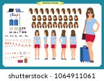 tourist female  vacation... | Shutterstock .eps vector #1064911061