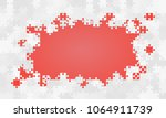 red background puzzle. jigsaw... | Shutterstock .eps vector #1064911739