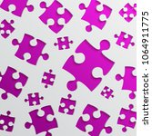 purple background puzzle.... | Shutterstock .eps vector #1064911775