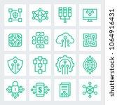 block chain technology concept  ... | Shutterstock .eps vector #1064916431