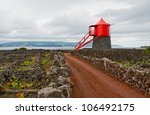traditional windmill in a... | Shutterstock . vector #106492175