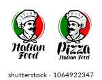 cook  chef logo. italian food ... | Shutterstock .eps vector #1064922347