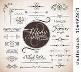 restaurant menu design template ... | Shutterstock .eps vector #106492871