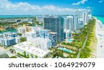 aerial view of south beach ... | Shutterstock . vector #1064929079