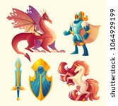 vector set of fantasy game...