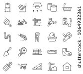 thin line icon set  ... | Shutterstock .eps vector #1064932361
