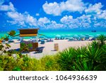 usa. florida. miami beach.... | Shutterstock . vector #1064936639