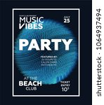 night party banner template for ... | Shutterstock .eps vector #1064937494
