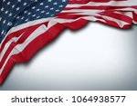closeup of american flag on... | Shutterstock . vector #1064938577