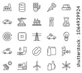 thin line icon set   factory... | Shutterstock .eps vector #1064939924
