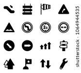 solid vector icon set  ... | Shutterstock .eps vector #1064944535