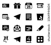 solid vector icon set   ticket... | Shutterstock .eps vector #1064944604