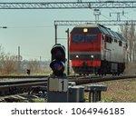 Small photo of Transport cargo transportation railway railway electric locomotive road racer rails work