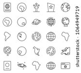 thin line icon set   around the ...   Shutterstock .eps vector #1064949719