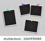 set of retro photo frame.... | Shutterstock .eps vector #1064950484