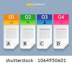 infographics design template 3d ... | Shutterstock .eps vector #1064950601