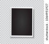 retro photo frame. realistic... | Shutterstock .eps vector #1064951927