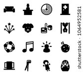 solid vector icon set   vip... | Shutterstock .eps vector #1064952581