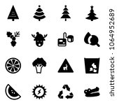 solid vector icon set  ... | Shutterstock .eps vector #1064952689