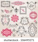 wedding vintage frames and... | Shutterstock .eps vector #106495271