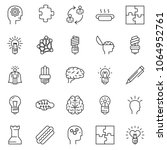 thin line icon set   idea... | Shutterstock .eps vector #1064952761
