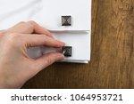 cufflinks with shirt on the... | Shutterstock . vector #1064953721