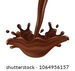 vector flowing wave of... | Shutterstock .eps vector #1064956157