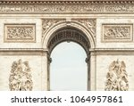 arc de triumph in paris  france | Shutterstock . vector #1064957861