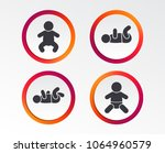 newborn icons. baby infant or...   Shutterstock .eps vector #1064960579