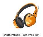 realistic bright orange... | Shutterstock . vector #1064961404
