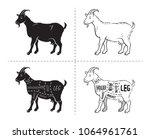 vector illustration goat cuts... | Shutterstock .eps vector #1064961761