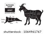 vector illustration goat cuts... | Shutterstock .eps vector #1064961767