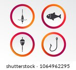 fishing icons. fish with... | Shutterstock .eps vector #1064962295