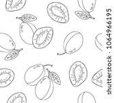 hand drawn seamless pattern... | Shutterstock .eps vector #1064966195