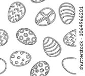 seamless pattern with easter... | Shutterstock .eps vector #1064966201