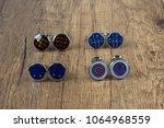 cufflinks with shirt on the... | Shutterstock . vector #1064968559
