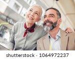 happy mature couple having... | Shutterstock . vector #1064972237