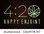 420 happy enjoint logo... | Shutterstock .eps vector #1064978747