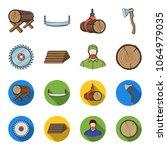 circular saw  a working...   Shutterstock .eps vector #1064979035
