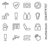 flat vector icon set   umbrella ... | Shutterstock .eps vector #1064979707
