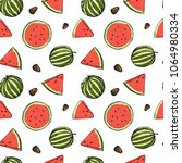 seamless pattern with... | Shutterstock .eps vector #1064980334