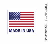 made in the usa label with...   Shutterstock .eps vector #1064983361