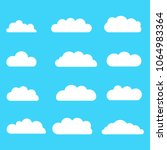 set of clouds. set of different ...   Shutterstock .eps vector #1064983364