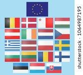 vector set of european union... | Shutterstock .eps vector #1064987195