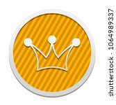 crown icon. gray icon in circle ...