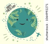happy planet earth day  april... | Shutterstock .eps vector #1064992271